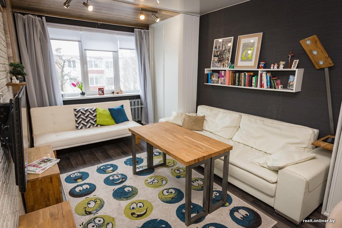 Ремонт в однокомнатной хрущевке 31 кв.м с самодельной мебелью за 3000 долларов