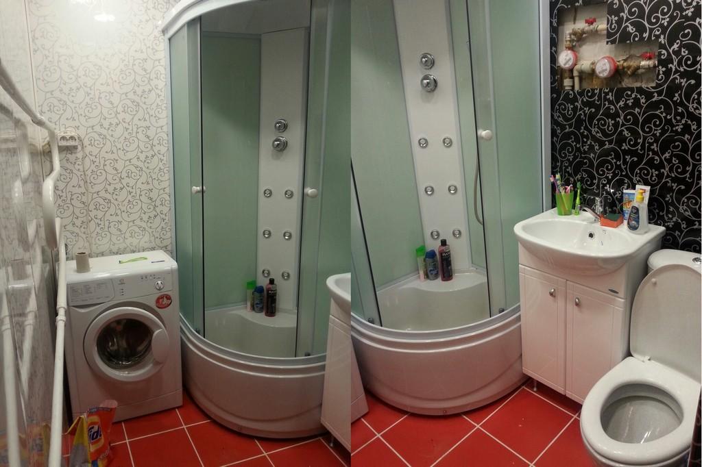 Душевая кабина в маленькой ванной в хрущевке - 29 идей