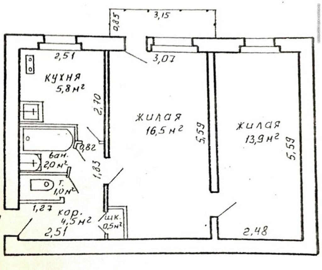 Какие размеры у балкона в хрущевке?