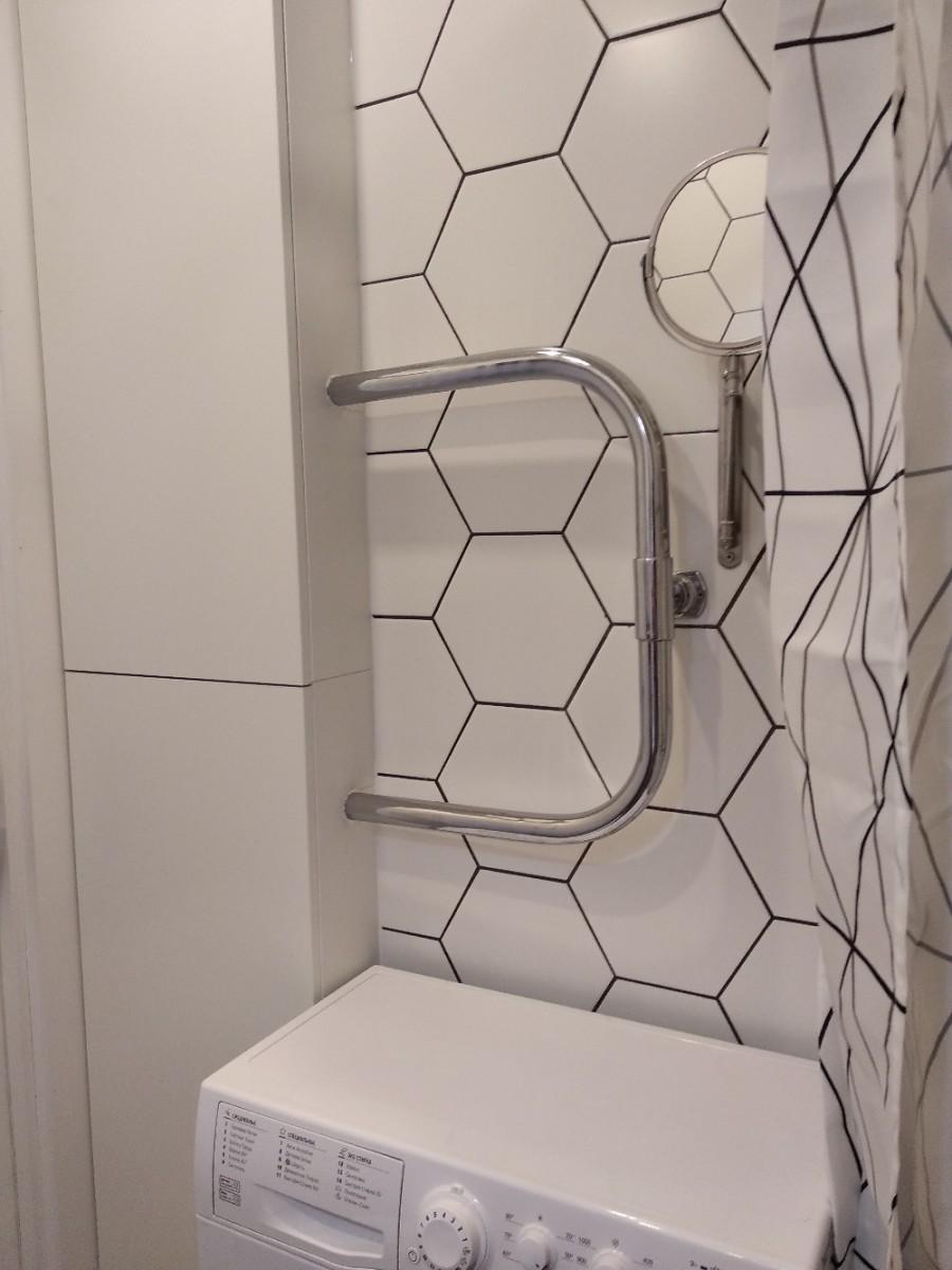 Скандинавский дизайн совмещенного санузла 2,7 кв.м. в хрущевке