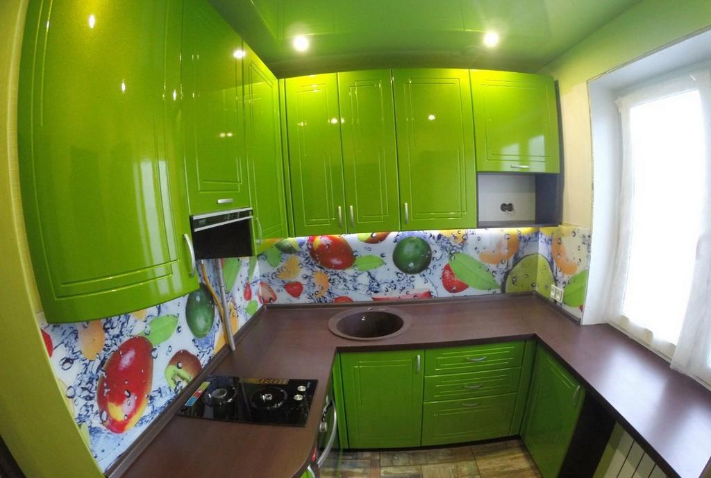 Как выглядит зеленая кухня в хрущевке? 19 реальных фото