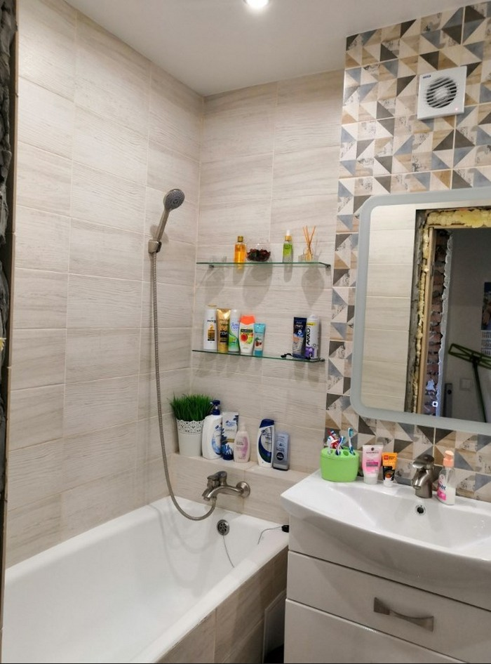 Дизайн ванной комнаты в хрущевке - 40 интересных идей
