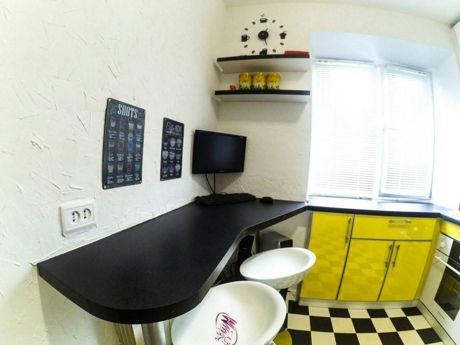 Барная стойка на кухне в хрущевке - 24 идеи с фото