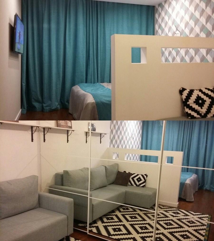Зонирование комнаты 20 кв.м на спальню и гостиную - лучшие идеи с фото